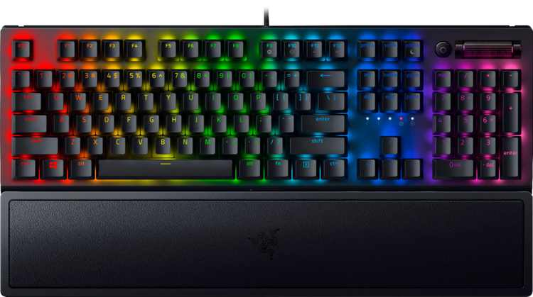 Razer - Blackwidow V3 Wired Gaming Mechanical Green Switch Keyboard with RGB Chroma Backlighting - Black