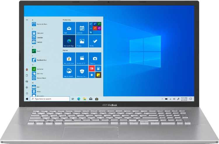 "ASUS - Vivobook 17.3"" Laptop - AMD Ryzen 7 - 12GB Memory - AMD Radeon Vega 10 - 512GB SSD - Silver"