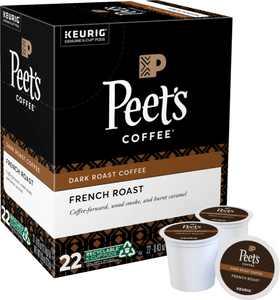 Peet's Coffee French Roast Keurig Single Serve K-Cup Pods, 22 Count