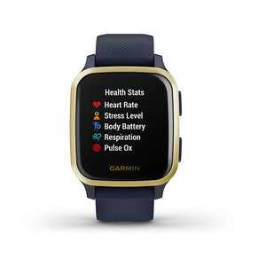 Garmin USA - Venu Sq Music Edition 20mm GPS smartwatch with music and all-day health monitoring - Navy