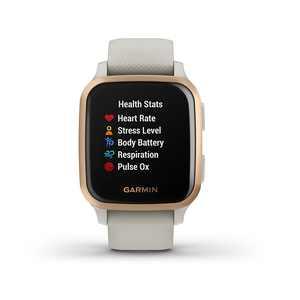 Garmin USA - Venu Sq Music Edition GPS Smartwatch 20mm Polymer - Light Sand