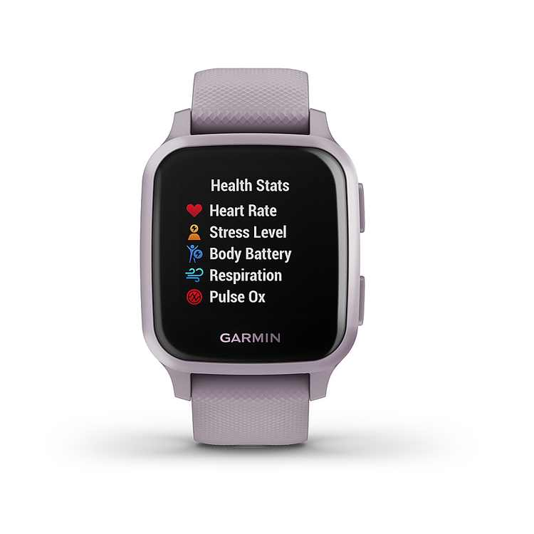 Garmin USA - Venu Sq GPS Smartwatch 20mm Polymer - Orchid