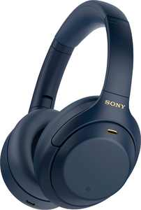 Sony - WH-1000XM4 Wireless Noise-Cancelling Over-the-Ear Headphones - Midnight Blue