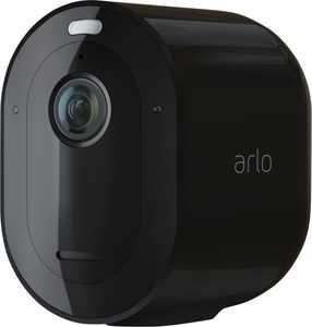Arlo - Pro 4 Spotlight Camera – Indoor/Outdoor 2K Wire-Free Security Camera with Color Night Vision - Black