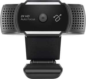 Aluratek - 2K Ultra HD Live Broadcast Webcam - Black