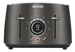 Sencor - 4-Slice Wide-Slot Toaster - Black
