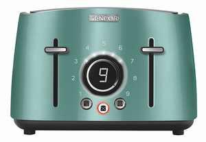 Sencor - 4-Slice Wide-Slot Toaster - Green