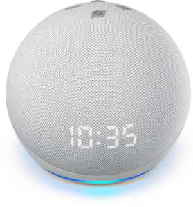 Amazon - Echo Dot (4th Gen) Smart speaker with clock and Alexa - Glacier White