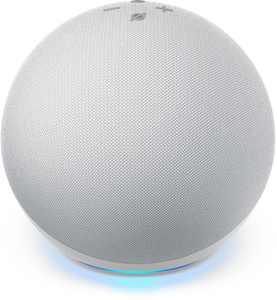 Amazon - Echo (4th Gen) With premium sound, smart home hub, and Alexa - Glacier White
