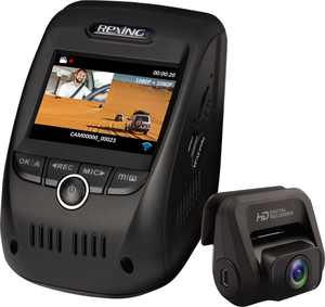 Rexing - V1P Pro Plus Front and Rear Dash Cam with Built-in GPS and Wi-Fi Connect - Black