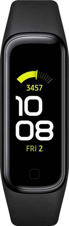"Samsung - Galaxy Fit2 Smart Watch 1.1"" AMOLED - Black"
