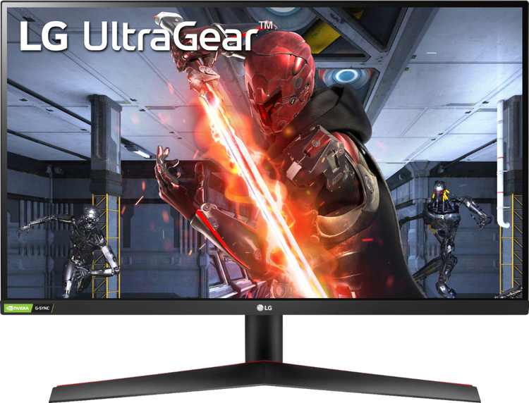"""LG - UltraGear 27"""" IPS LED FHD G-Sync Compatible Monitor with HDR (DisplayPort, HDMI) - Black"""