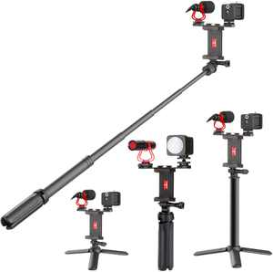 Sunpak - Vlogging Kit with Cardioid Microphone and LED Video Light for Smartphones