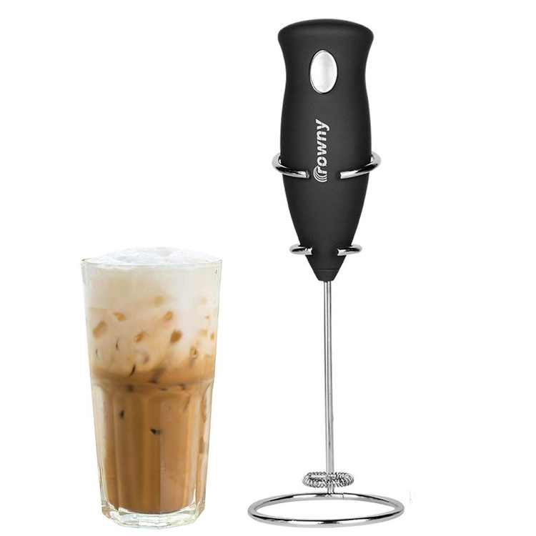 Peroptimist Handheld Electric Milk Frother, Automatic Foam Maker for Coffee, Macchiato, Lattes, Hot Chocolate, Matcha Tea Whisking, Protein Powder Beverage Mixer,Not Include 2 AA Batteries