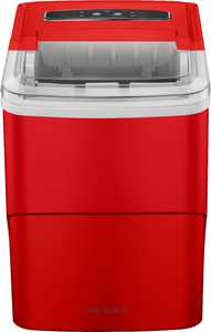 Insignia - 26 Lb. Portable Icemaker with Auto Shut-Off - Red