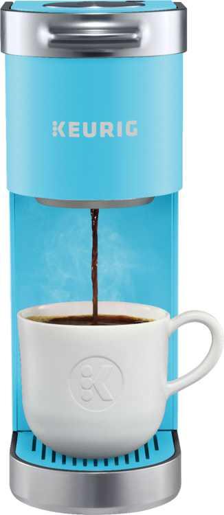 Keurig - K-Mini Plus Single Serve K-Cup Pod Coffee Maker - Cool Aqua