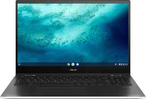 "ASUS - 2-in-1 15.6"" Touch-Screen Chromebook - Intel Core 11th Gen i3 - 8GB Memory - 128GB SSD - Matte White"