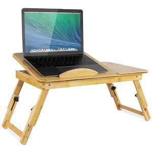 Mount-It! - Laptop Tray Bed Stand - Light brown