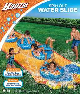Banzai - Spin Out Extra Wide Inflatable Outdoor Water Slide