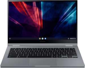 """Samsung - Galaxy Chromebook 2 - 13.3"""" QLED Touch-Screen - Intel Celeron - 4GB Memory - 64GB eMMC - Mercury Gray"""