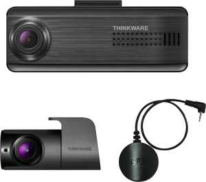 THINKWARE - F200 PRO Front and Rear Dash cam with GPS Accessory - Black