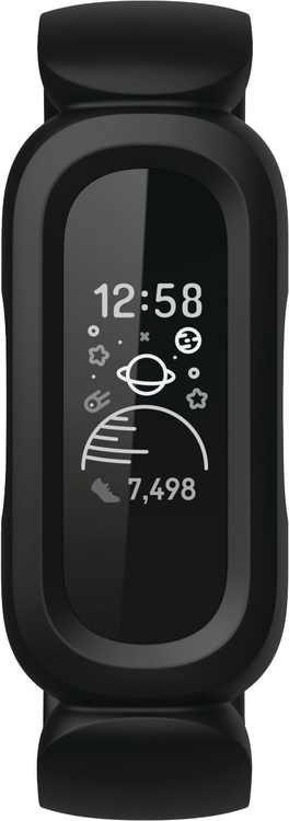 Fitbit - Ace 3 Activity Tracker for Kids - Black/ Sport Red
