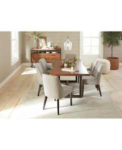 Everly Dining Furniture, 7-Pc. Set (Table & 6 Square Back Side Chairs), Created for Macy's