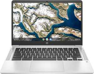 "HP - 14"" Chromebook - Intel Celeron - 4GB Memory - 32GB eMMC - Mineral Silver"