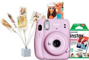 Fujifilm - Instax Mini 11 Camera Bundle - Lilac Purple