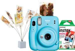 Fujifilm - Instax Mini 11 Camera Bundle - Sky Blue