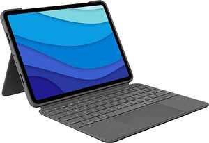 """Logitech - Combo Touch iPad Pro 11"""" Keyboard Case for Apple iPad (1st, 2nd, and 3rd Gen) - Oxford Gray"""