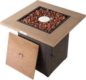 Legacy Heating - 28-Inch Square Fire Table - Brown