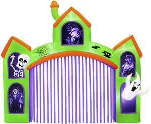 Occasions 12' Wide Inflatable Haunted House Archway with Flashing Lights