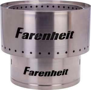 Farenheit - Flare 17.5-in Fire Pit - Silver