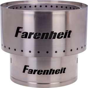 Farenheit - Flare 13.5-in Fire Pit - Silver