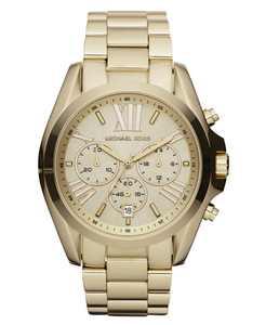 Women's Chronograph Bradshaw Gold-Tone Stainless Steel Bracelet Watch 43mm MK5605