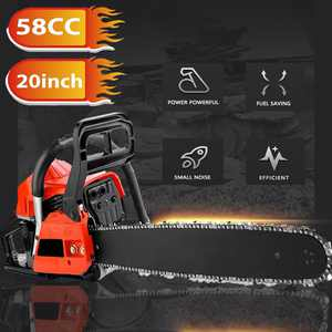 58CC 3.5HPElecmall Petrol Chainsaw Cutting Wood Gasoline Chainsaw,Saw Blade,1 Chain,Guide Sleeve And Tool Kit
