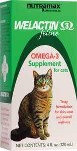 Nutramax Welactin Feline Omega-3 Liquid Supplement for Cats, 4 oz.