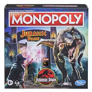 Monopoly: Jurassic Park Edition Board Game, Includes T. Rex Monopoly Token