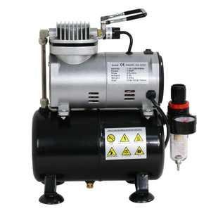 Zeny 1/5 HP Airbrush Air Compressor Kit w/ 3L Tank & 6FT Hose Multipurpose for Hobby Paint Cake Tattoo