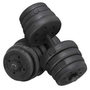 SmileMart 66 lb. Adjustable Dumbbells for Weight Training, Black