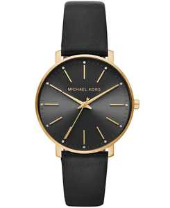 Women's Pyper Black Leather Strap Watch 38mm