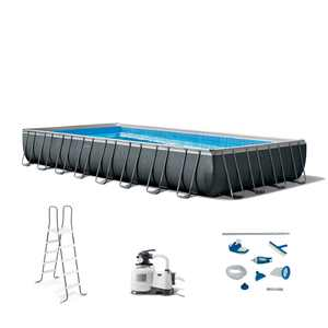 Intex 32ft x 16ft x 52in Ultra XTR Rectangular Pool Set with Maintenance Kit