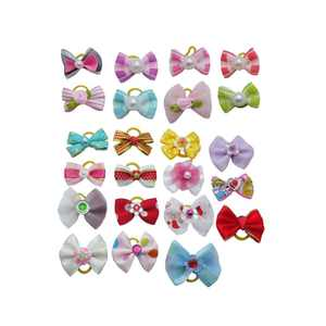 Pet Dog Hair Bows Accessories With Rubber Bands, 20pcs Pack