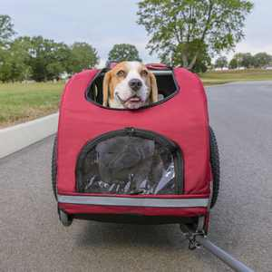 PetSafe Bicycle Trailer for Dogs, Steel (Includes Safety Tether & Pouches) Medium