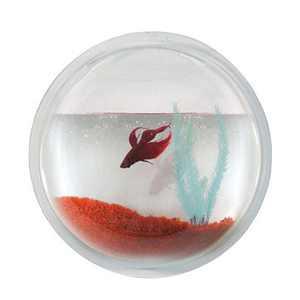 Modern Home Fish Bubble - Deluxe Acrylic Wall Mounted Fish Tank - Betta House/Hanging Aquarium