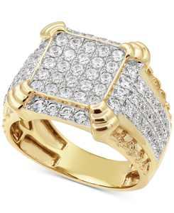 Men's Diamond Cluster Ring (2-1/4 ct. t.w.) in 10k Gold or 10k White Gold