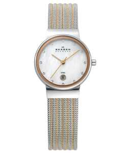 Women's Ancher Two-Tone Stainless Steel Mesh Bracelet Watch 26mm 355SSRS