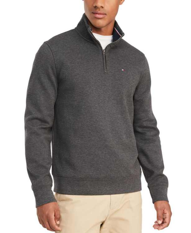 Men's French Rib  Quarter-Zip Pullover, Created for Macy's