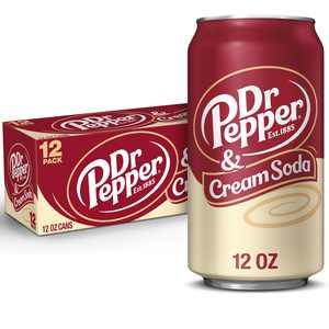 Dr Pepper & Cream Soda, 12 fl oz cans, 12 pack